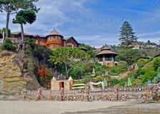 Beach home at Victoria Beach, Laguna Beach, CA. Stock Photo