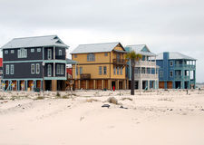 Beach Homes royalty free stock images