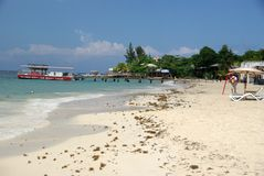 Beach in Honduras Stock Images
