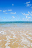 Beach Horizon. Beautiful beach on Oahu Hawaii Stock Images