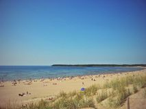 Beach and hot summer day Royalty Free Stock Image