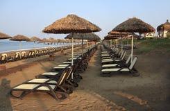 Beach at the hotel. Mediterranean. Turkey. Belek Stock Image
