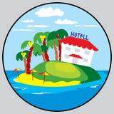 Beach hotel emblem Stock Image