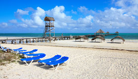Beach of hotel Melia Cayo Guillermo. Royalty Free Stock Photography
