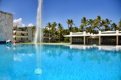 Beach Hotel Resort Swimming Pool Royalty Free Stock Photo