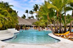 Beach Hotel Resort Swimming Pool Royalty Free Stock Photos