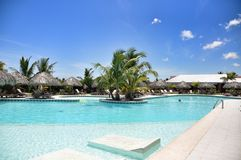 Beach Hotel Resort Swimming Pool Royalty Free Stock Images
