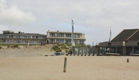 Beach hotel and Restaurant. Vlieland Stock Images