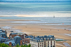 The beach of Houlgate, Normandy Royalty Free Stock Photography