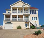 Beach House. Luxury beach house in the Outerbanks of North Carolina Royalty Free Stock Photo