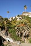 Beach House. House set atop the cliffs in Laguna Beach, California Royalty Free Stock Photo