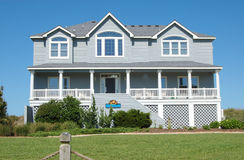 Beach House. In the Outer Banks of North Carolina Royalty Free Stock Photos
