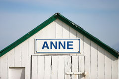 Beach house Anne. (building detail Stock Images