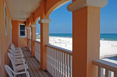 Beach House Balcony Royalty Free Stock Photos