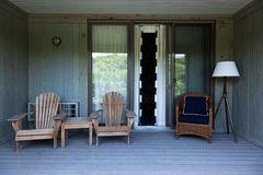 Beach house balcony deck Royalty Free Stock Photos