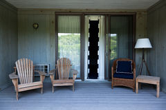 Beach house balcony deck Royalty Free Stock Images