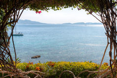 Beach House in Batangas Philippines. Royalty Free Stock Photos