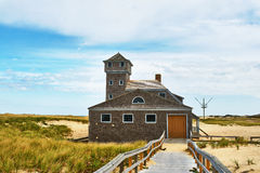 Beach house at Cape Cod Stock Image