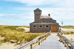 Beach house at Cape Cod Stock Photo