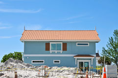 Beach House Construction Stock Image