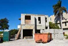 Beach House Construction royalty free stock image