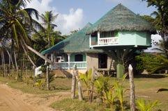 Beach house corn island nicaragua Stock Image
