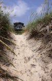 Beach House Framed with Dune Stock Photo