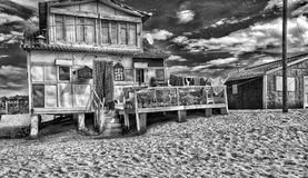 Beach house, full of drinks Stock Photo