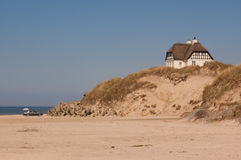 Beach house on hill Royalty Free Stock Images
