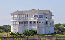 Beach house in North Carolina Stock Photos
