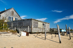 Beach house at Provincetown, Cape Cod, Massachusetts Stock Photos