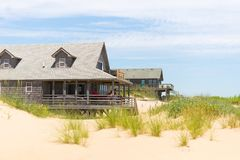 Beach house rentals  3. Oceanside rental homes Outer Banks of North Carolina Stock Images
