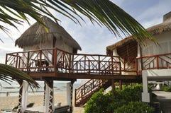 Beach House on the sand stock photo