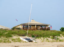 Beach house in Summer Stock Photography
