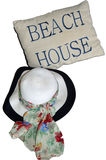 The Beach House and a Sun Hat Royalty Free Stock Photo