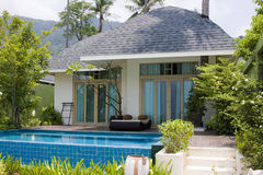 Beach house in Thailand Royalty Free Stock Photo