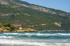 Beach house. In Thassos, Greece Royalty Free Stock Photos