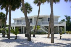 Beach house in tropics Stock Photography