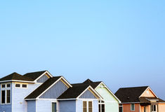 Beach Houses. In the Outer Banks of North Carolina royalty free stock photos