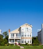 Beach Houses. Along the New Jersey shore, with a blue sky background Stock Photography