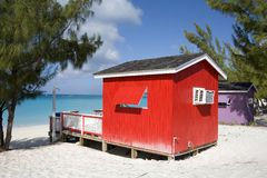 Beach houses Royalty Free Stock Images