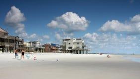 Beach houses stock photos
