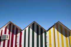 Beach houses Allicante. Colorfull beach houses in Alicante Spain royalty free stock photos
