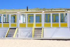 Beach houses at North Sea, Netherlands Stock Images