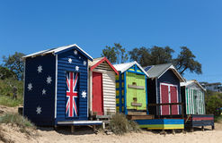 Beach houses,  Australia Royalty Free Stock Image