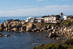 Beach Houses in Camps Bay South Africa Royalty Free Stock Photos