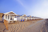 Beach houses at the coast in the Netherlands Stock Photography