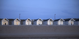 Beach houses in the late evening light Royalty Free Stock Photos