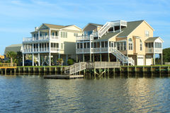 Beach houses Royalty Free Stock Photos