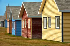 Beach houses in Magdalen island Royalty Free Stock Image
